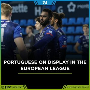 Portuguese players in action in the European League