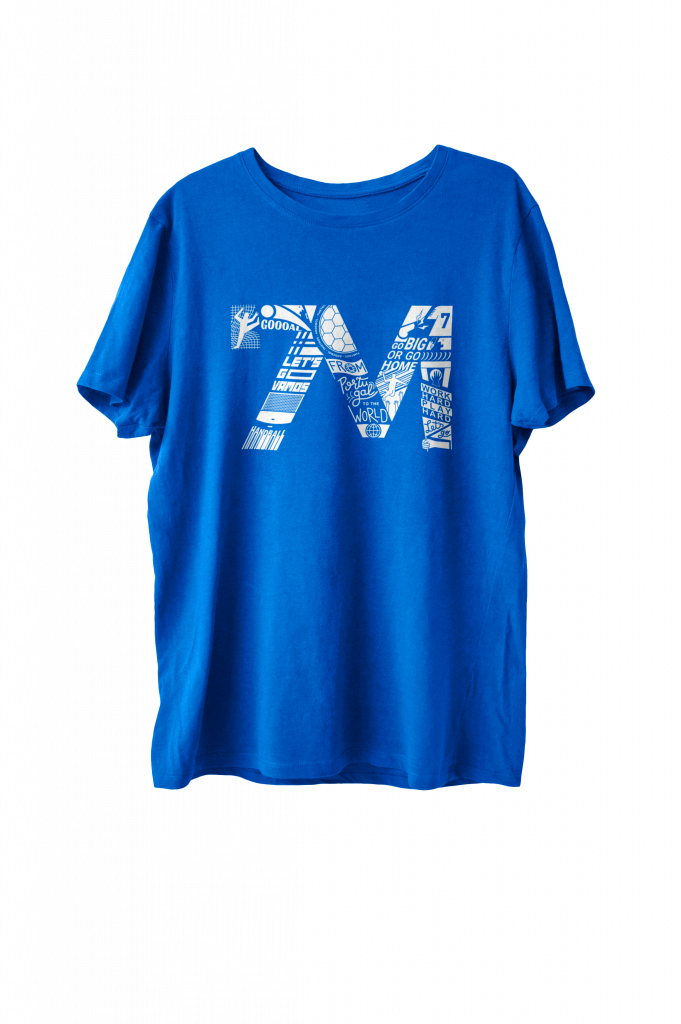 T-shirt 7M Azul Real